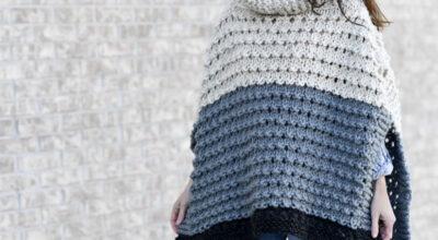 Poncho de tricô: 60 modelos quentinhos e tutoriais pra fazer o seu