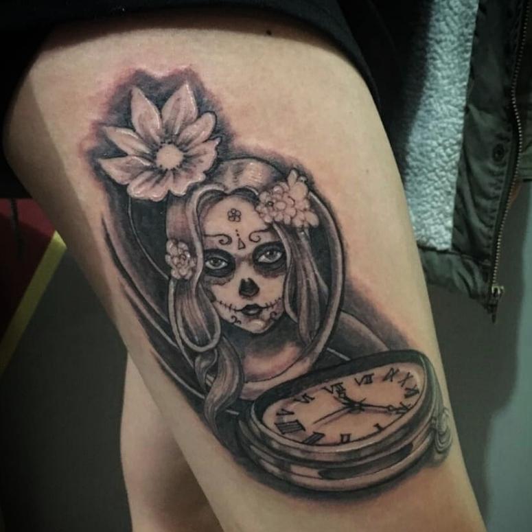 Tatuagem Catrina 65 Desenhos Lindos Da Famosa Dama Do Mexico