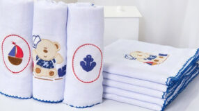 Fraldas bordadas: 60 modelinhos apaixonantes para o enxoval