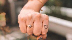 Tatuagem de coração no dedo: 50 desenhos que vão te deixar apaixonada