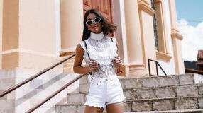 Shorts branco: 75 looks com a peça que nunca sai de moda