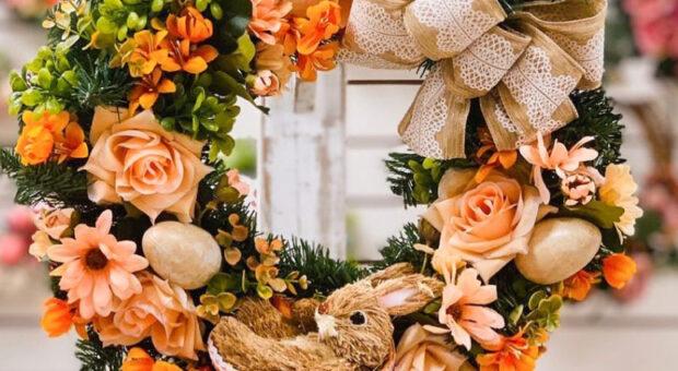 50 guirlandas de Páscoa para decorar a porta e como fazer a sua