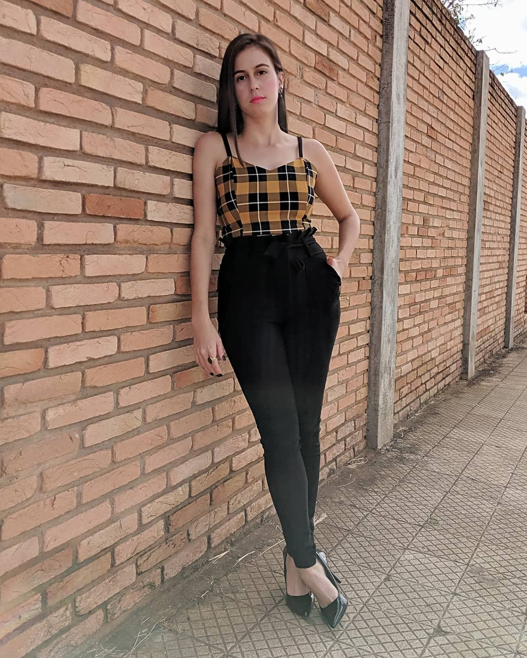 cropped xadrez 13 - 30 Outfits a cuadros para inspirarte y ponerte en tendencia