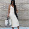 Diferentes modelos de vestido midi para looks inovadores