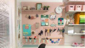 30 inspirações de pegboard para otimizar espaço e organizar a sua casa