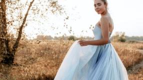 45 ideias de vestido de noiva azul para viver um conto de fadas