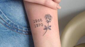 30 ideias de tatuagem de data que vão te fazer viajar no tempo