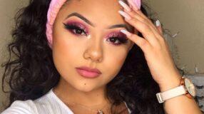 30 fotos de maquiagem rosa com glitter que não passam despercebidas