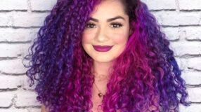 30 fotos de cabelo cacheado roxo para colorir com estilo